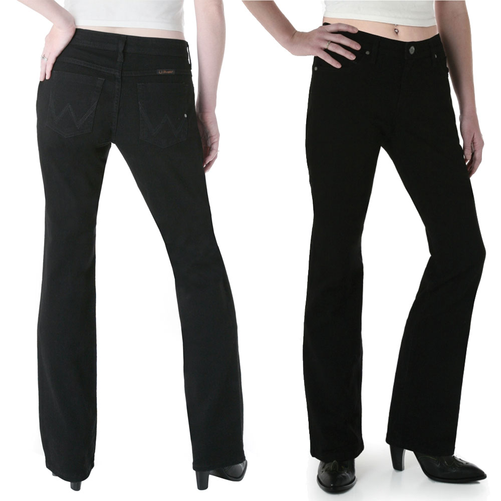 b7da2003 Wrangler Womens Ultimate Riding Jean - Q Baby - Black - Donohues ...