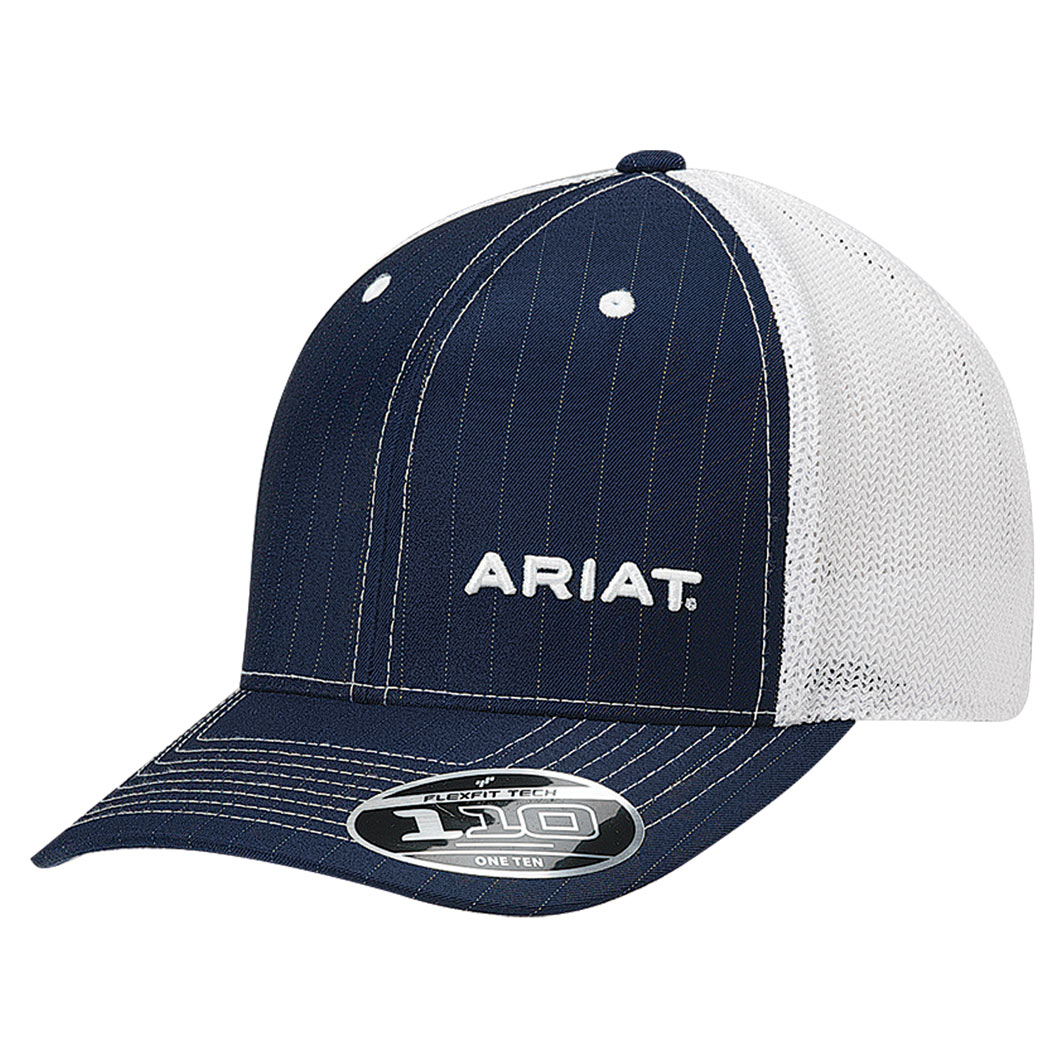 e68ecd3b Ariat Truckers Cap - Navy Pinstripe - Donohues, City & Country Gear