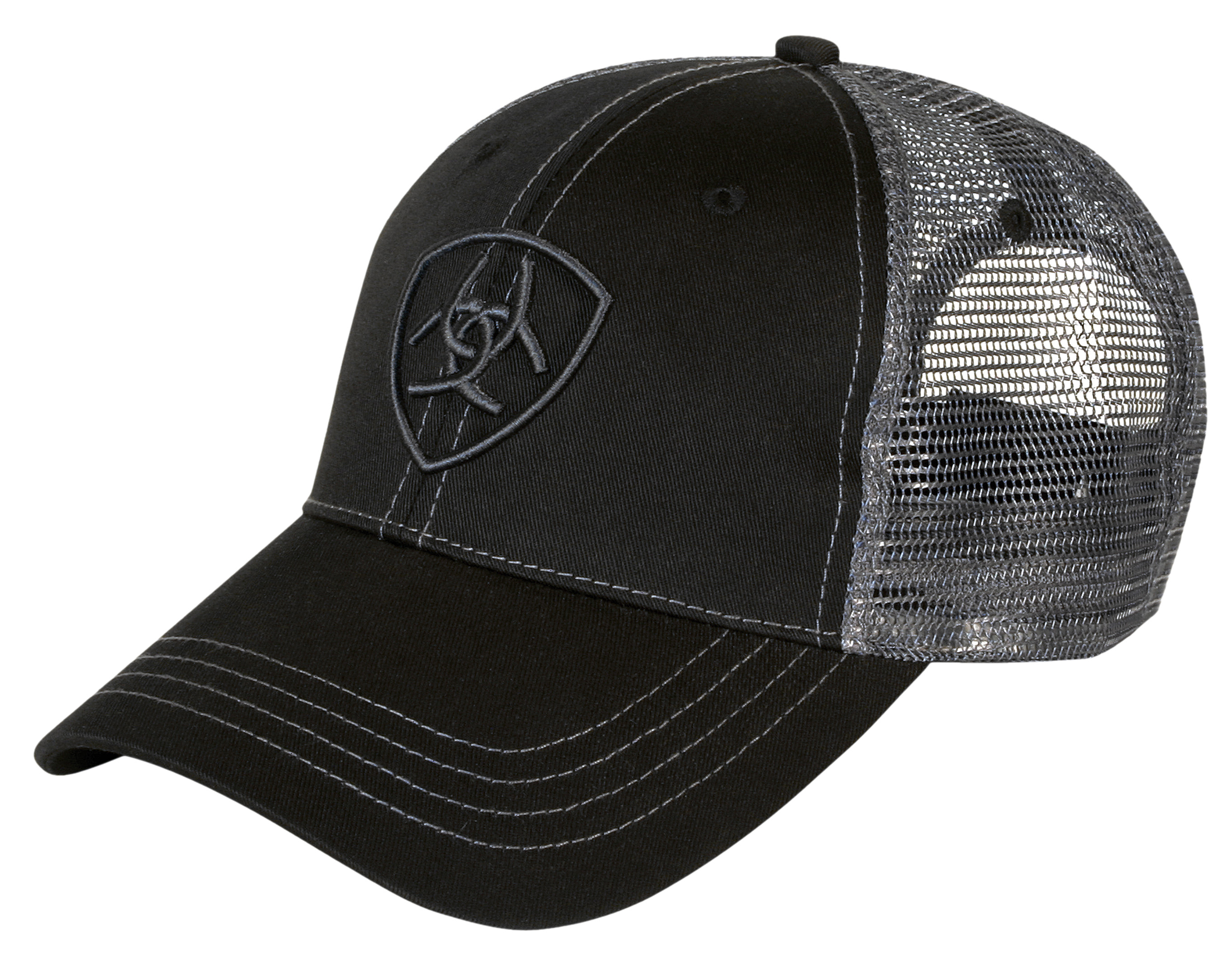 00ea5c4f Ariat Truckers Cap - Black/Charcoal - Donohues, City & Country Gear