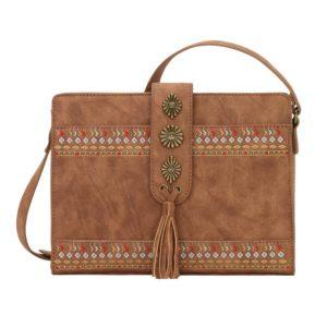 ea895df955 American West Desert Wildflower Small Crossbody Bag Wallet - Brown ...